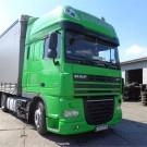 Caminhão verde da DAF