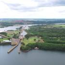 Vista aérea do canal de Nova Avanhandava