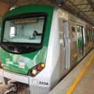 Novo trem do metrô do Distrito Federal