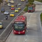 vista aérea do sistema BRT de Bogotá
