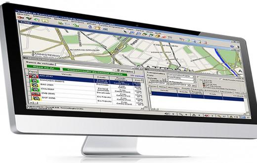 Tela de computador com plataforma Omnilink da Zatix
