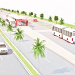 Maquete virtual do BRT de Goiânia