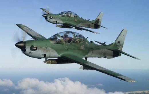 Aviões Super Tucano da Embraer