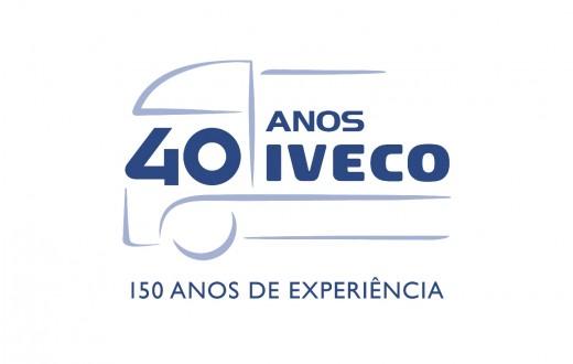 Logo comemorativo 40 anos da Iveco