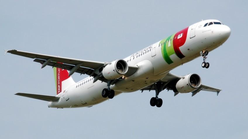 Avião da TAP em vôo