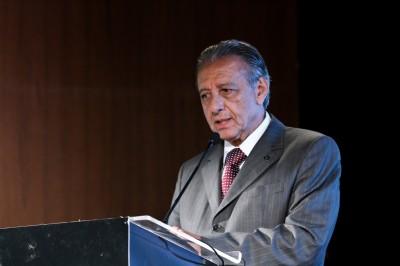 Otávio Cunha, presidente da NTU, durante palestra